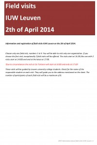 2014 info and registration for field visits IUW Leuven (1)-1