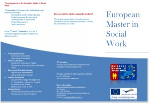 Common master in social work for SocNet 98